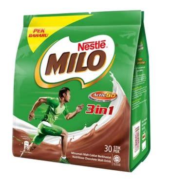 Milo Malaysia 400gr Active Go milo malaysia milo activ go 3 in 1 mixes 30 sticks