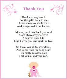 baby shower thank you poems from unborn baby poem