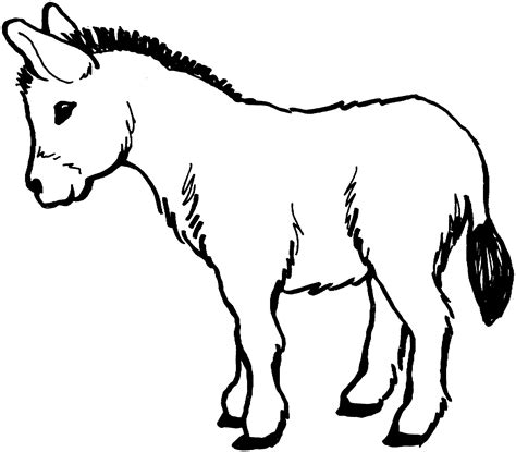 Christmas Donkey Coloring Page | free printable donkey coloring pages for kids