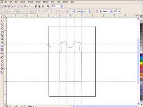 design t shirt corel draw drawing t shirt using corel draw youtube