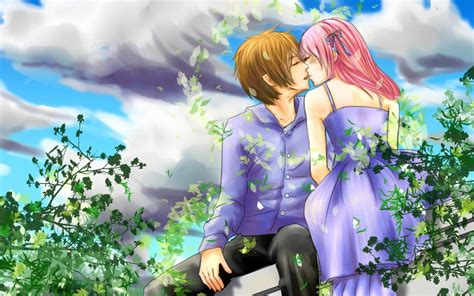 cartoon kissing wallpaper desktop cartoon love images and wallpaper