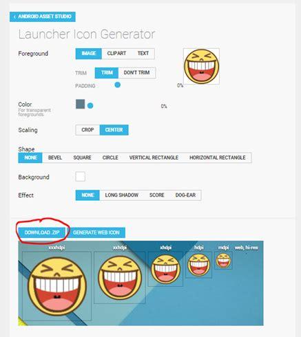 membuat website launcher android cara mudah membuat icon android dengan launcher icon