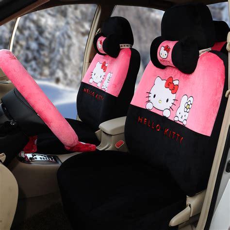 pink plush seat covers hello 18pcs universal car seat covers soft plush