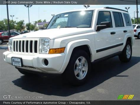 2006 Jeep Commander White White 2006 Jeep Commander Medium Slate Gray