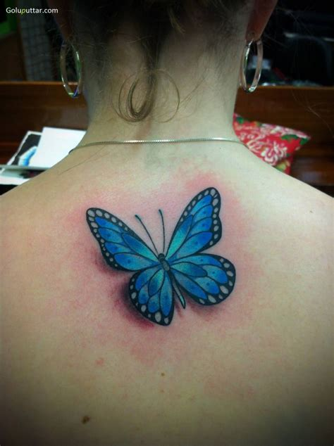 blue butterfly tattoo 3d butterfly tattoos