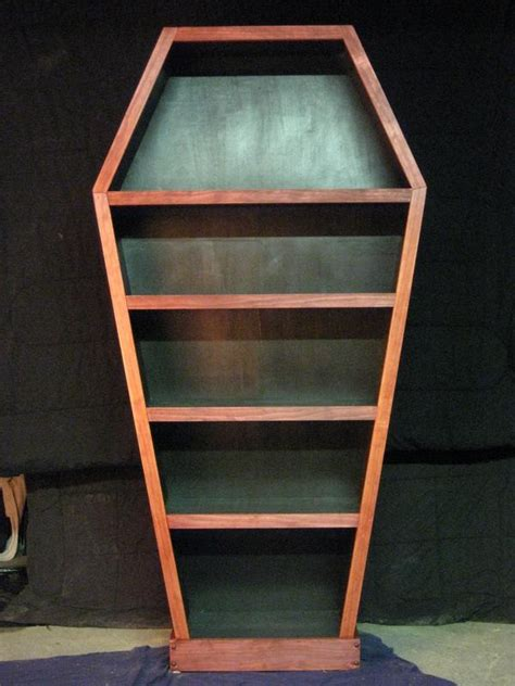 coffin bookshelf home