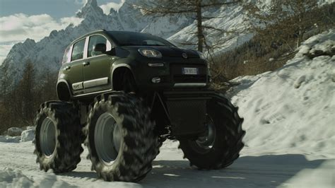 video truck monster fiat panda italian for monster truck w video autoblog