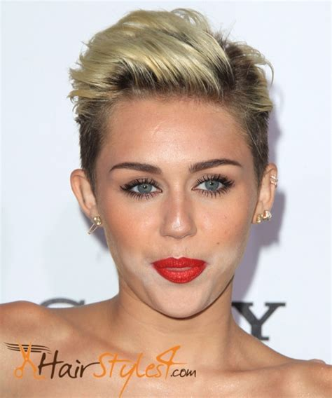 the name of mileys haircut miley cyrus short spiked punk what are the miley cyrus hairstyles hairstyles4 com