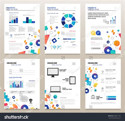 Presentation Booklet Vector Template A4 Pages Stock Vector 640071199 Shutterstock Information Booklet Template