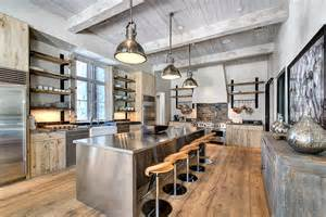 exceptional Rustic Painted Kitchen Cabinets #1: Industrial-kitchen-cabinets-kitchen-contemporary-with-tongue-and-groove-painted-wood-ceiling.jpg
