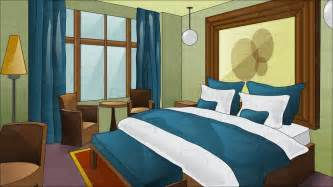 Hotel With King Size Bed In A Fancy Hotel Room With King Size Bed Vector Clip