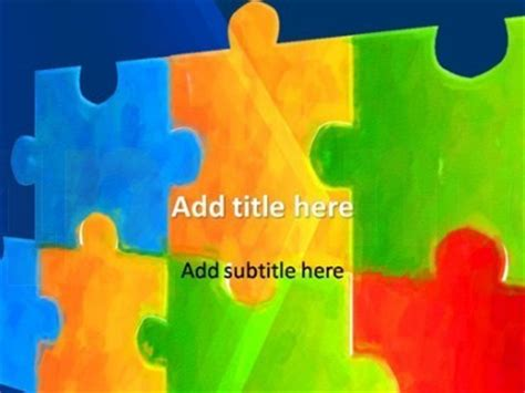 Autism Powerpoint Template Free Free Powerpoint Templates Autism Scoop It