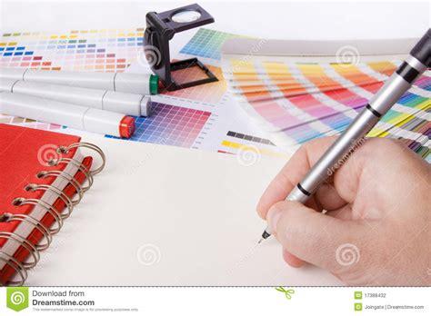 graphic designer desk stock photography image 17388432
