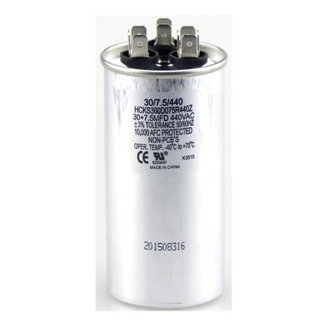 what does mfd capacitor packard 440 volt 40 5 mfd dual motor run capacitor trcfd405 the home depot