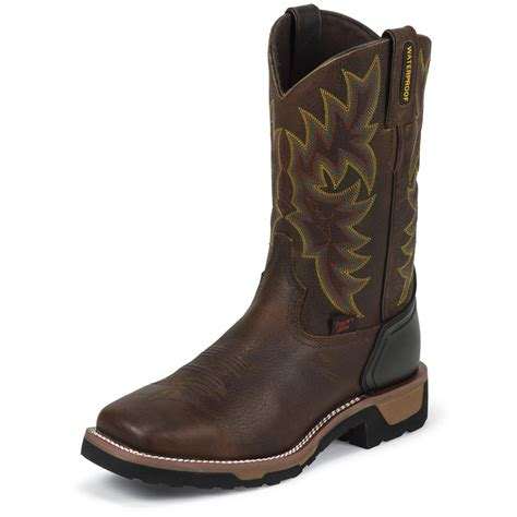 cowboy work boots for tony lama 174 11 quot badger waterproof western work boots bark