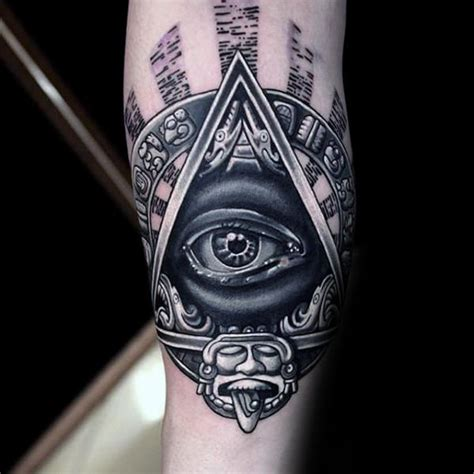 tribal tattoo god 60 eye of providence tattoo designs for men manly ink ideas