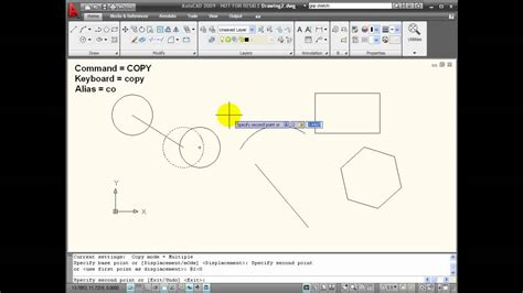 tutorial autocad commands autocad tutorials using the copy command youtube