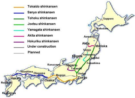 shinkansen map shinkansen japan building the world