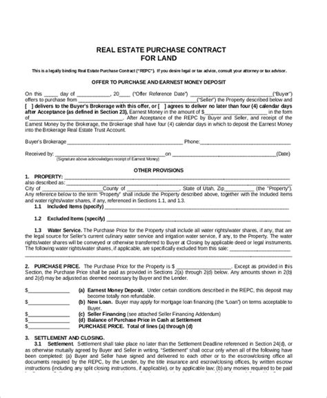 Agreement Letter For Buying Land Sle Land Contract Form 8 Free Documents In Pdf Doc