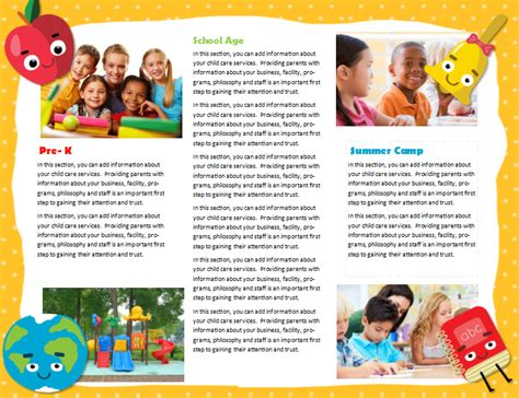 child care brochure template free child care brochure template 22 child care owner