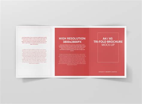 mockup designer open source a4 a5 tri fold brochure mock up premium and free