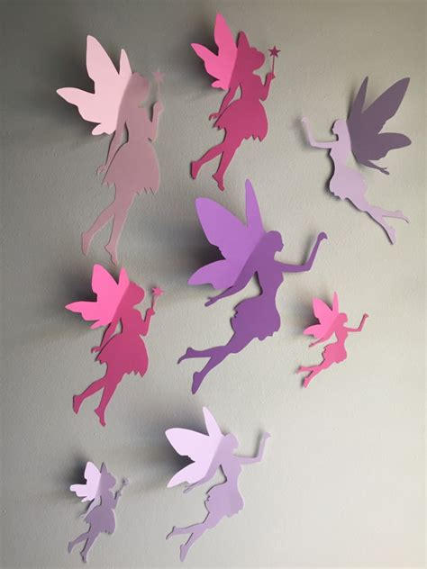 8 paper wall 3d wall decal whimsical room