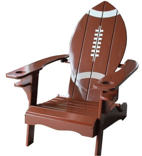 football helmet shaped chair football shaped adirondack chair from www