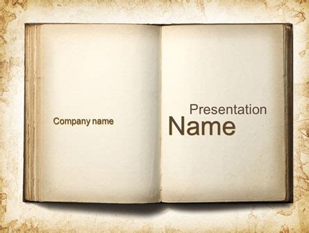 Old Book Presentation Template For Powerpoint And Keynote Ppt Star Powerpoint Template Book Theme