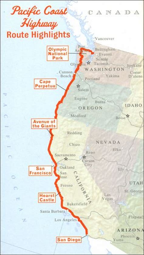 pacific coast highway map map of pacific coast highway 1 pictures to pin on pinsdaddy