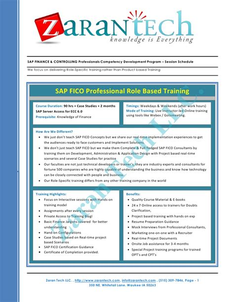 sap controlling focuses on sap fico certification sap fico books sap fico competency development program from zaran tech