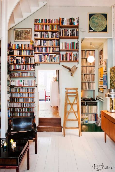 home interior books vintage library design ideas