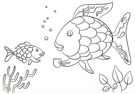 fish coloring page with scales contemporary rainbow fish scale template image collection
