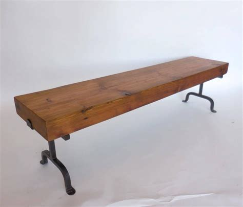 rustic wood benches for sale custom rustic wood and iron bench for sale at 1stdibs