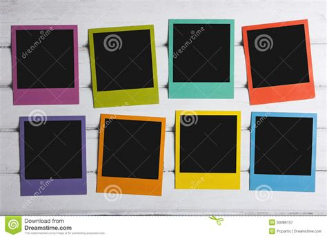 polaroid colors color polaroids stock image image of modern four