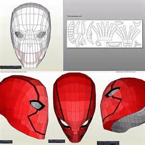 red hood helmet pepakura red hood costume pinterest