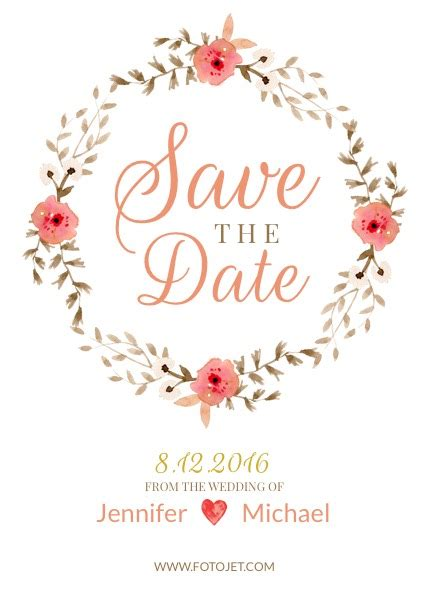 save the date printable printables the pretty blog