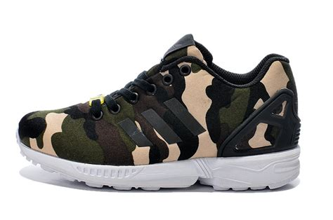 Sneakers Motif Army Gotrack Camo Green free shipping adidas zx flux army green camouflage color