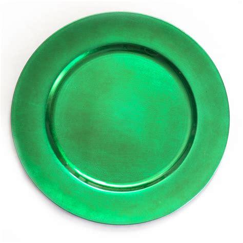shamrock green shamrock green round charger pates set of 4 plates