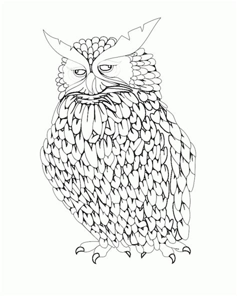 owl doodle coloring page free coloring pages of draw doodle owl