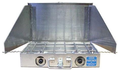 Ready Kompor Outdoor Windproof Ts2k 1 cook partner 18 quot 2 burner propane stove w windscreen adventure ready