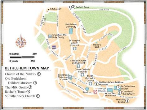 bethlehem jerusalem map maps of bethlehem tourists in israel
