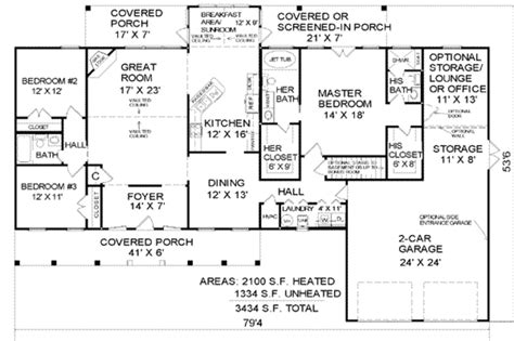 2100 Sq Ft House Plans | country style house plan 3 beds 3 baths 2100 sq ft plan