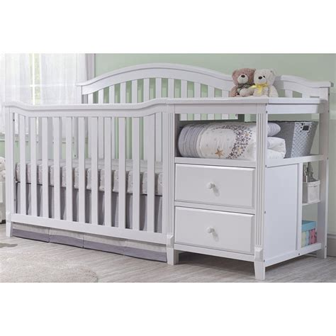 Crib With Attached Changing Table Mounting Crib With Changing Table Attached Recomy Tables