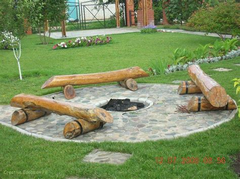 benches around fire pit log bench fire pit my wishlist pinterest fire pits