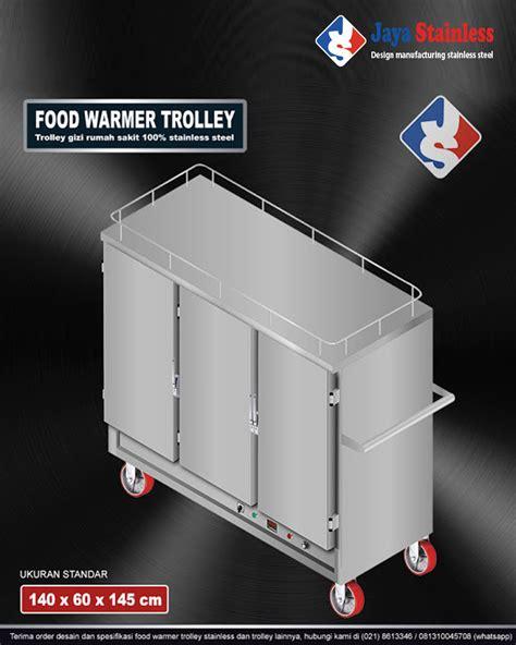Pemanas Makanan Food Warmer troli pemanas makanan stainless steel 3 pintu food