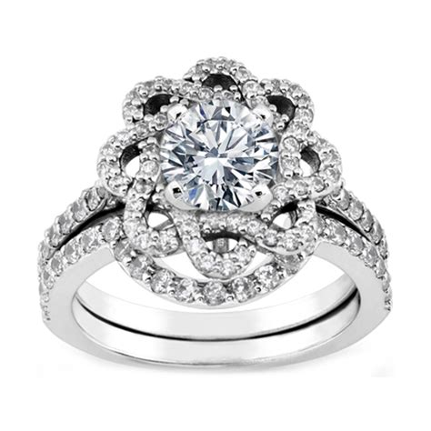 awesome halo engagement ring wedding band with stock
