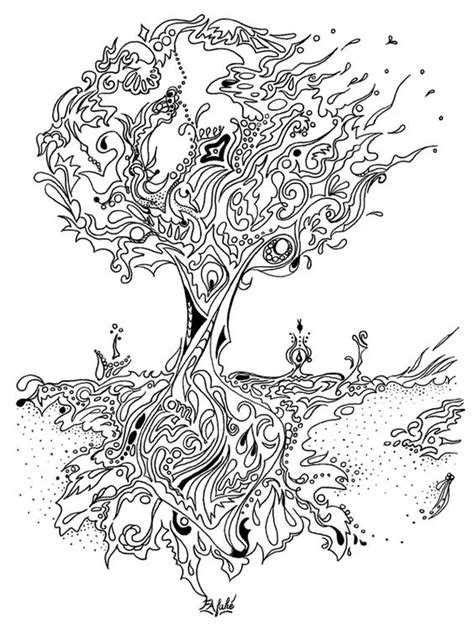 Tree Coloring Pages For Adults free printable coloring books pages for personal use