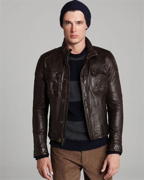 mens leather moto jacket mens brown leather moto jacket jacket to