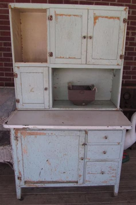 antique green farmhouse kitchen hoosier cabinet flour