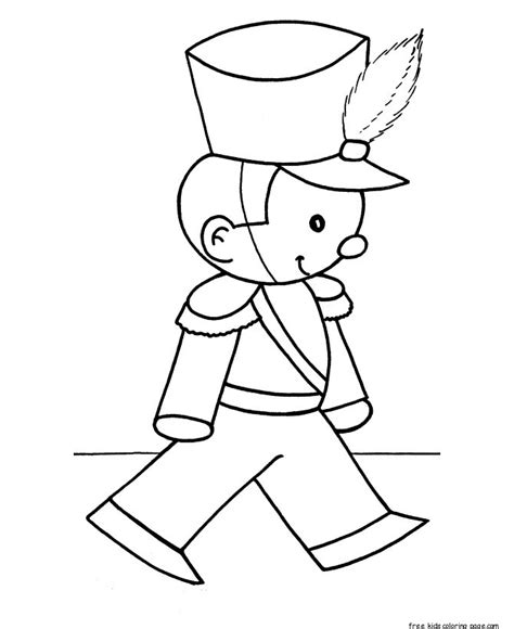 christmas toy soldiers coloring pages  kidsfree